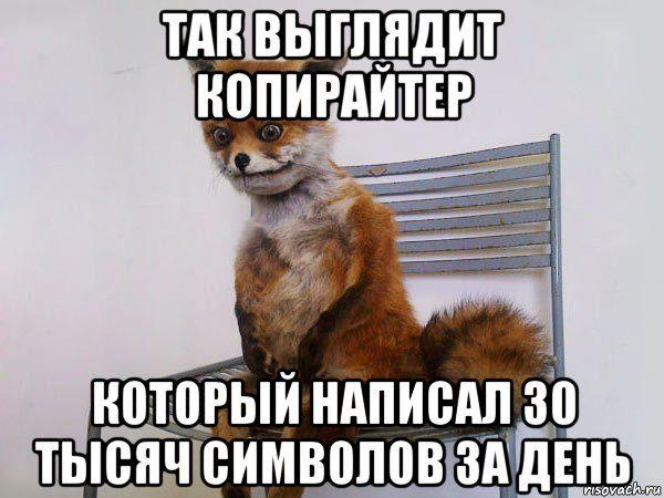 Упоротый лис копирайтер мем