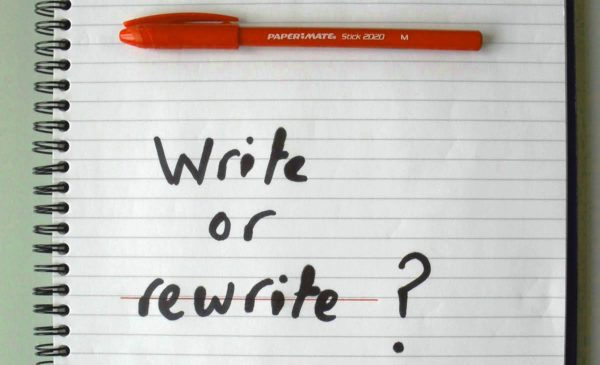Write or rewrite