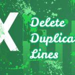 Как удалить повторяющиеся строки в Excel?